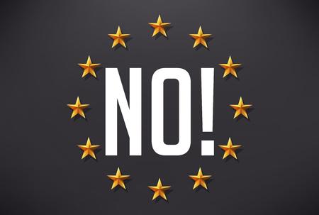 plaintive: Say no to terrorism - european flag