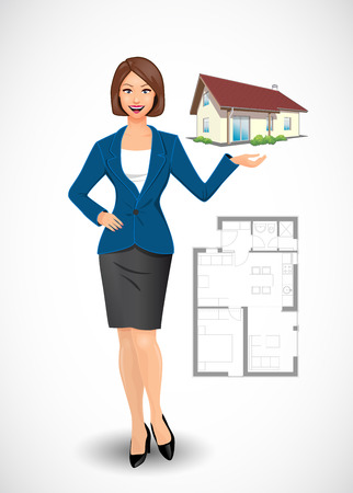 tradespeople: Businesswoman - real estate agent concept