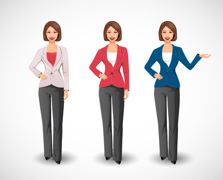 corporate people: Businesswomen - woman as manager Illustration
