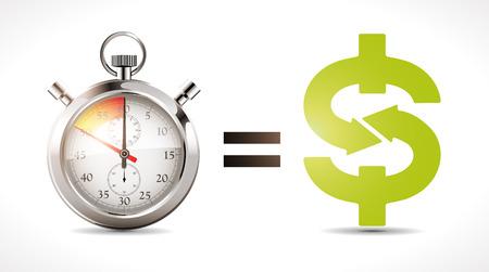 increment: Time is money - economy concept Illustration
