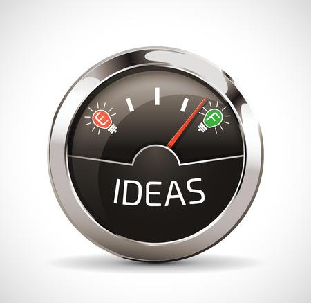 brain illustration: Empty full indicator - Ideas concept Illustration