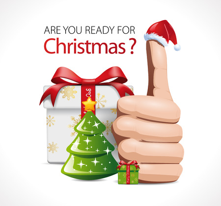 well made: Are you ready for christmas Gifts concept. Illustration