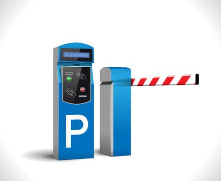 Parking payment station - access control concept Illusztráció
