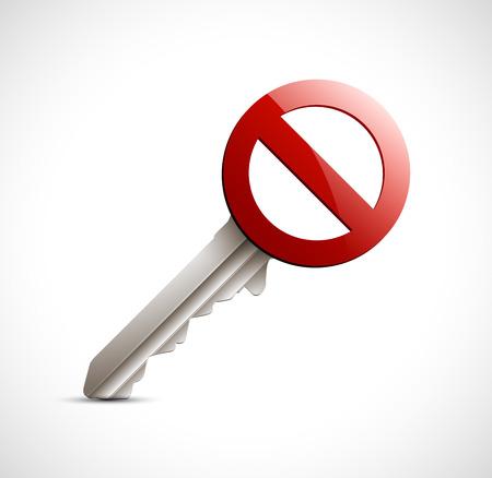 Access denied - authorization concept Ilustrace