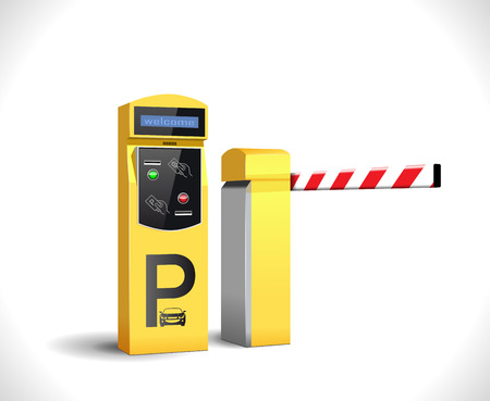 access control: Parking payment station - access control concept Illustration
