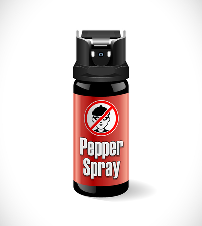 Self defense - pepper spray Illusztráció