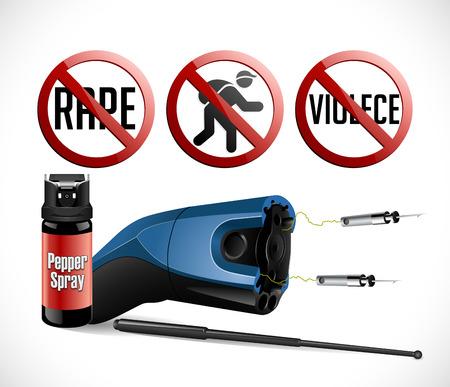 Self defense weapons - taser, pepper spray
