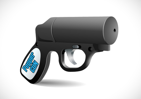 defense: Self defense weapons - pepper pistol Illustration