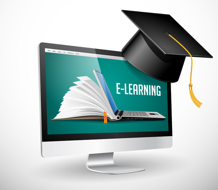 IT Communication - e-learning, on-line education concept