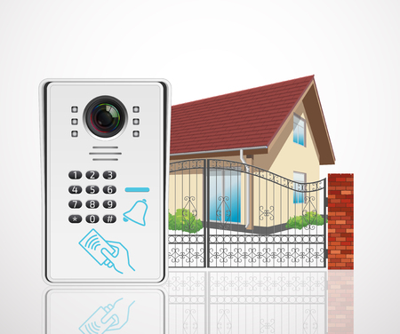 Home access control system - Video door phone