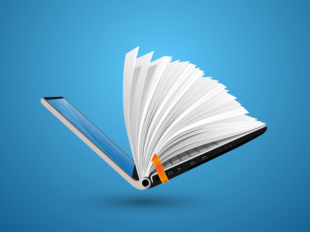 IT Communicatie - kennisbank, e-learning, e-book Stock Illustratie