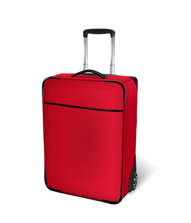 checked: Air travel checked and cabin baggage. Hand luggage concept