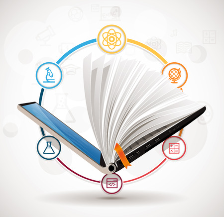 lore: Elearning concept - online learning system - knowledge growth - information concept