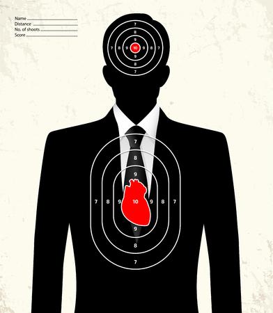 blanco de la radio de tiro - empresario falsa