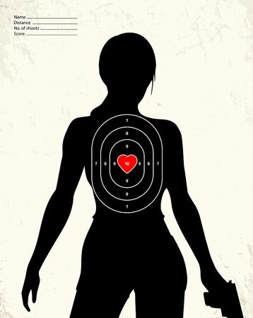 weapons: Dangerous armed woman - shooting range target