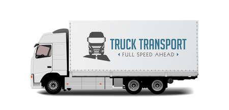 transport truck: Truck transport - fast delivery concept
