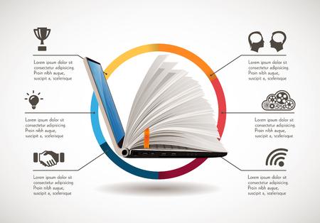 IT 通信・ e ラーニング - インターネット知識ベースとして  イラスト・ベクター素材