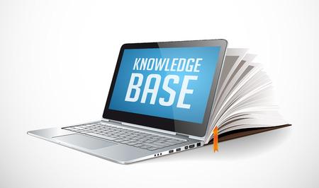 IT 通信・ インターネット知識ベースとしてネットワーク  イラスト・ベクター素材