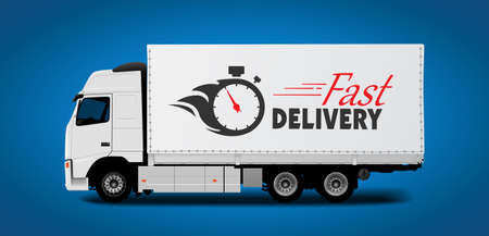 cartage: Truck transport - fast delivery concept