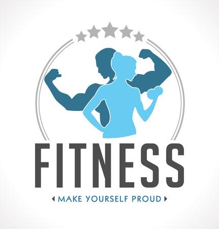 forme et sante: badge Fitness Illustration