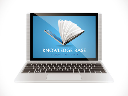 E-learning concept - internet network as knowledge base