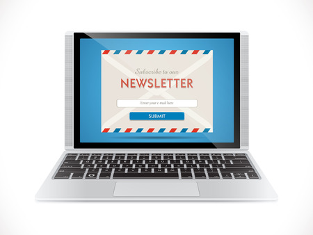 laptop icon: Newsletter - e-mail marketing concept