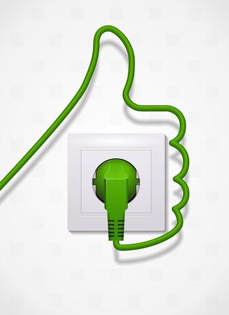 Energía verde - concepto de la ecología