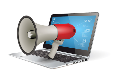 internet marketing: Megaphone concept - internet marketing idea