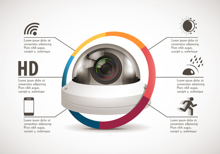 CCTV camera concept - device features Banco de Imagens - 63160247