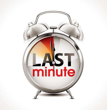 Dernier concept minute - réveil Banque d'images - 63313923