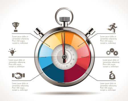 Concepto de gestión del tiempo - Cronómetro