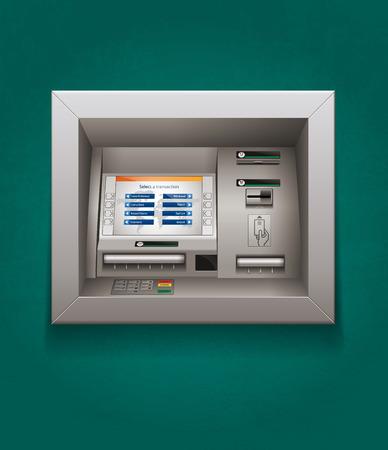 auto teller machine: ATM - Automated teller machine - cash concept