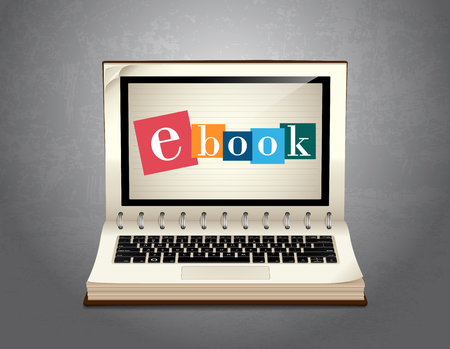 Book of e-learning - learning concept Ebook