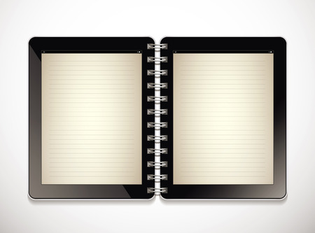 electronic book: Tablet as electronic book - concept Illustration
