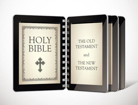 religious symbol: Holy Bible as an ebook