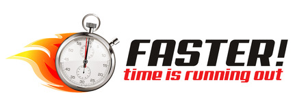 business time: Faster - business concept - time is running out