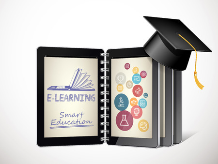 IT Communication - e-learning concept - internet network as knowledge base