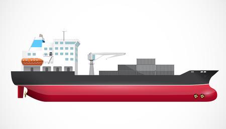 Nave de transporte - el comercio marino - concepto de negocio