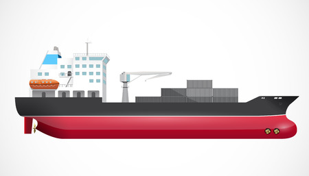 embark: Transport ship - ocean trade - business concept