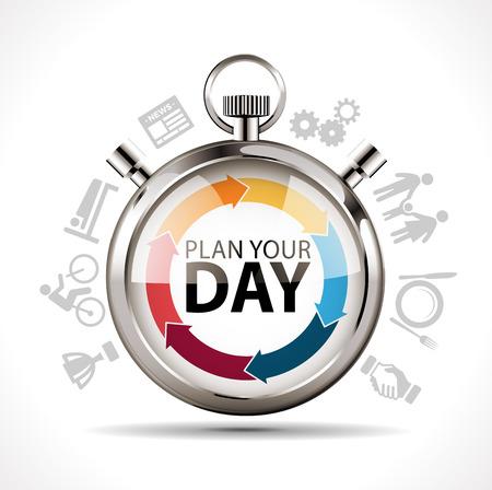 計画を立て - 仕事と生活の概念