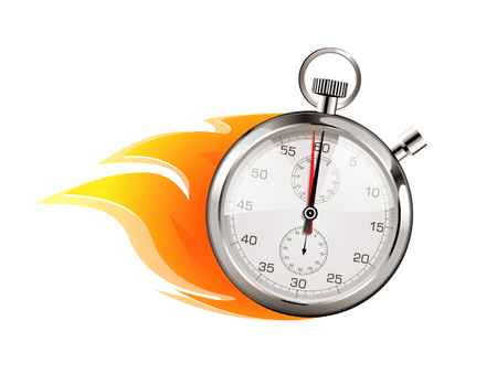 Más rápido - concepto de negocio - el tiempo se agota