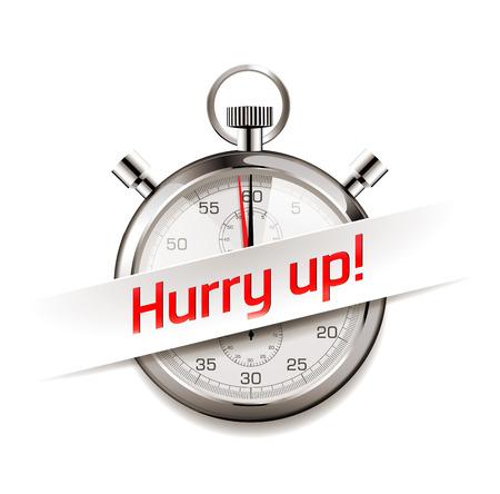 Más rápido - concepto de negocio - el tiempo se agota Ilustración de vector