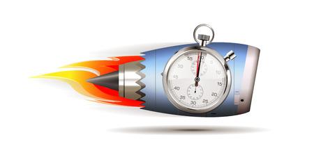 Turbo jet engine concept Illustration
