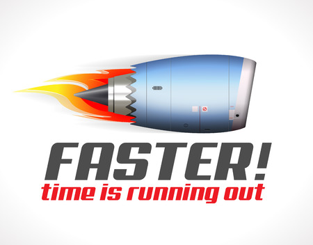Turbo jet engine concept Иллюстрация
