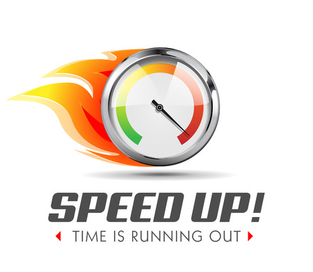 Speed up - business acceleration concept