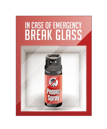 defensive: In case of emergency break glass - self defense concept