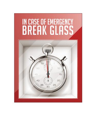 En caso de emergencia romper el concepto de tiempo de vidrio