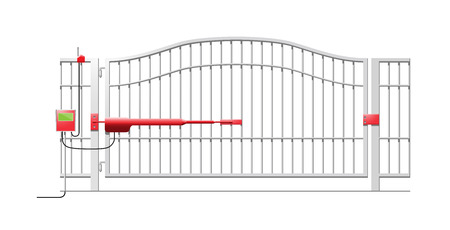 Automatic Gate System - Automatic Gate Opener Schematic Diagram
