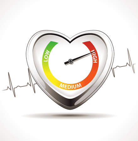 Hypertension concept - Healty heart Ilustrace