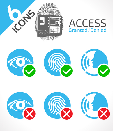 Access control system icons.